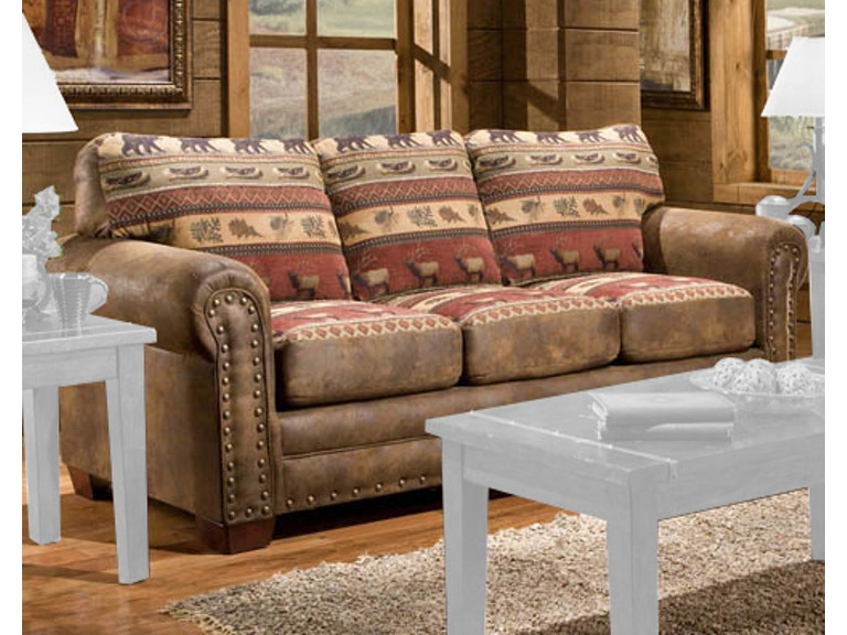 American Furniture Clics Sierra Lodge Sofa 8503 10