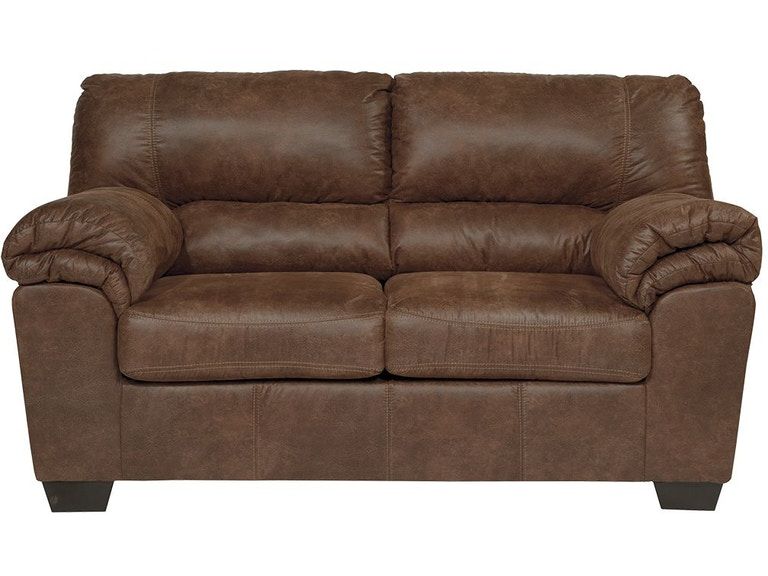 Admirable Bladen Coffee Faux Leather Loveseat Short Links Chair Design For Home Short Linksinfo