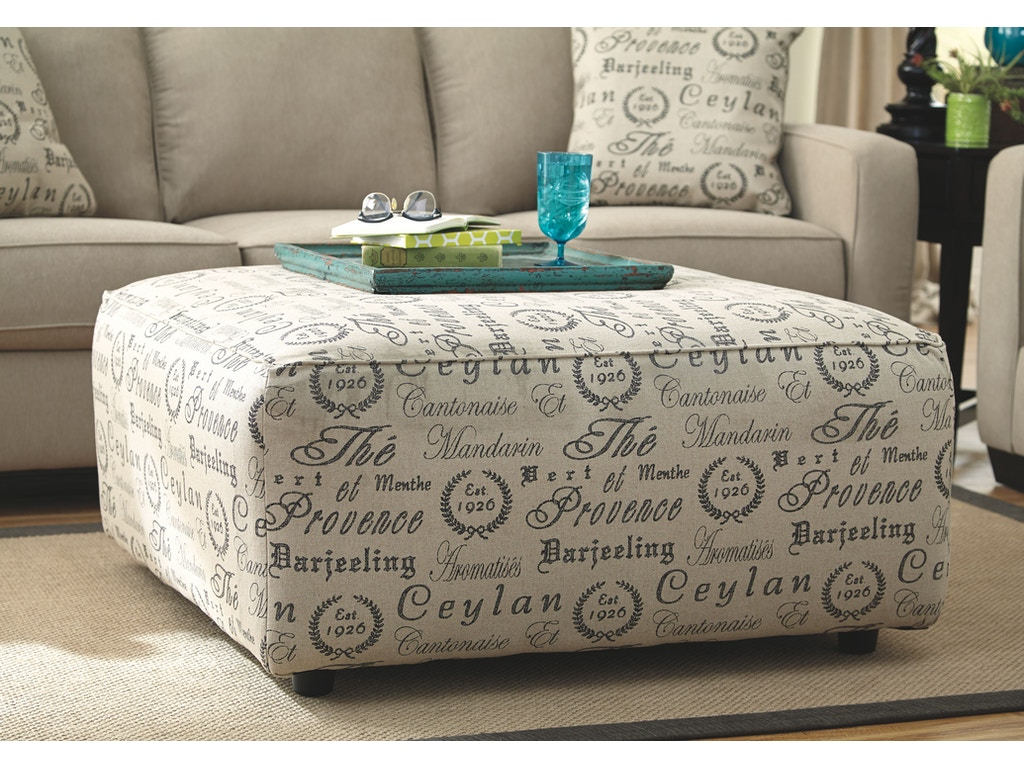 Signature Design By Ashley Living Room Oversized Accent Ottoman 1660008 Indian River Furniture