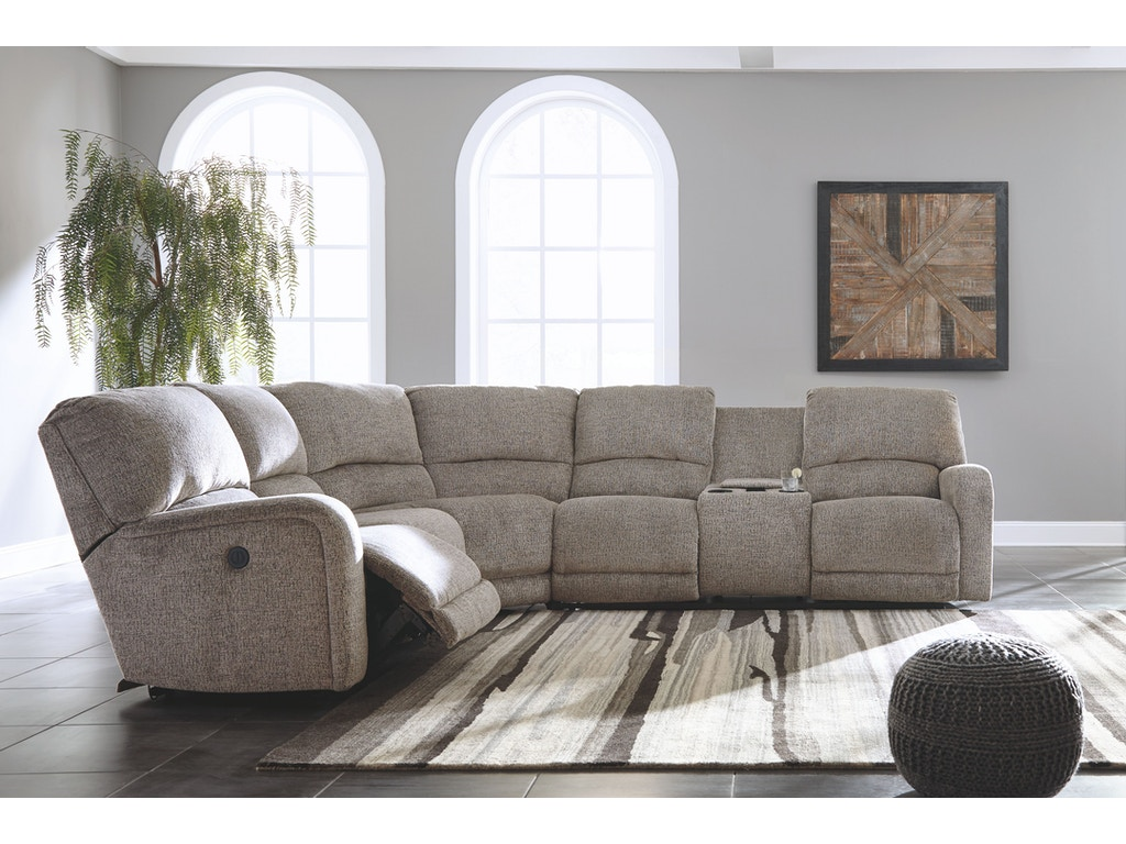 Signature Design By Ashley Living Room Raf Dbl Rec Pwr Con Loveseat 1790190 Pittsfield