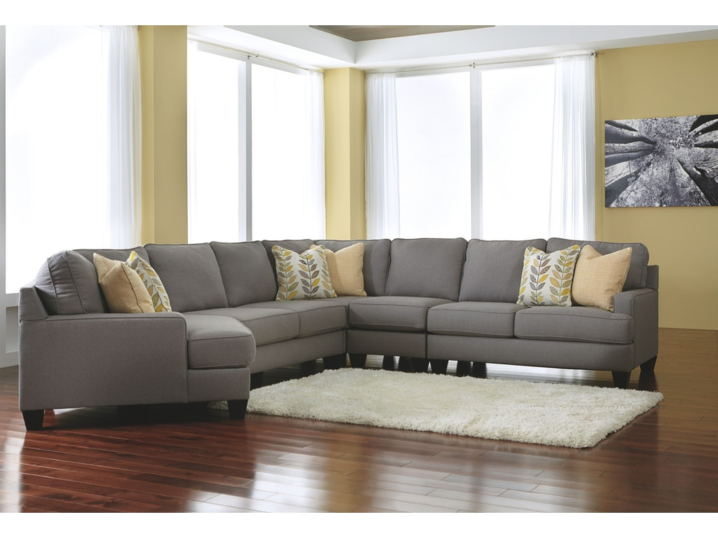 Signature design by ashley living room laf cuddler 2430276 for Sectional sofas duluth mn