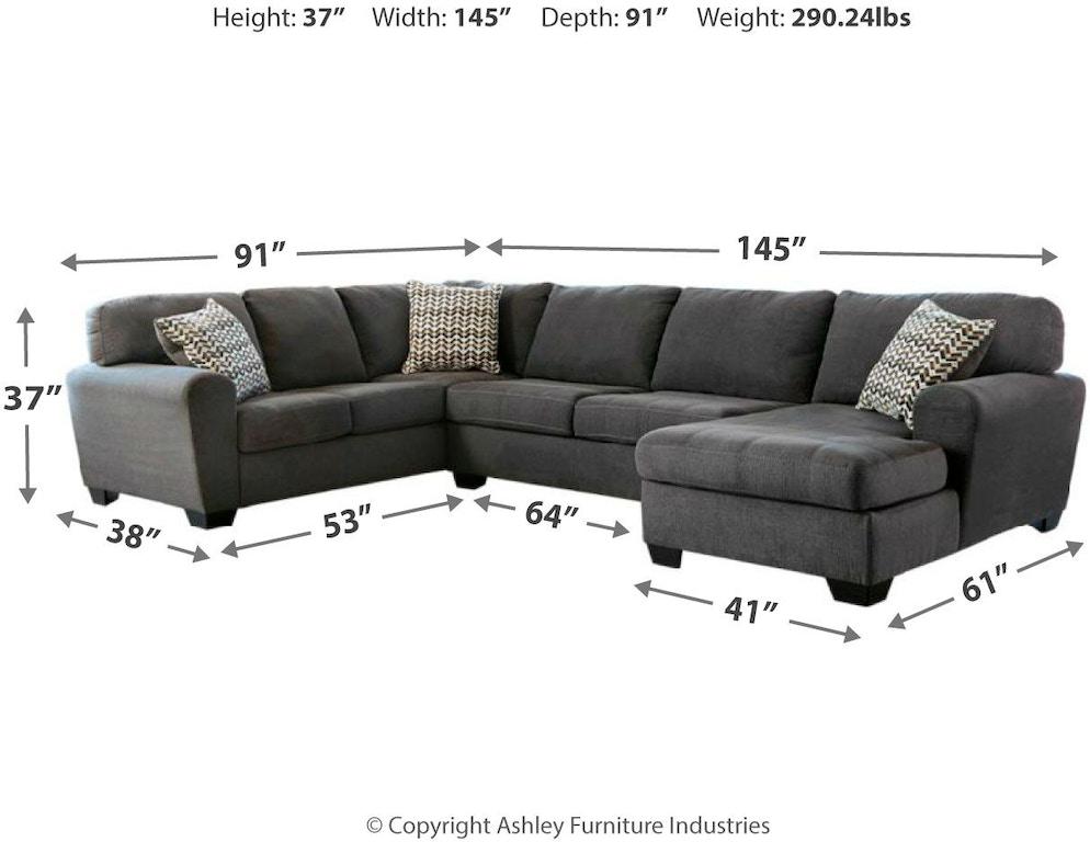 Awe Inspiring Benchcraft Living Room Sorenton 3 Piece Sectional With Uwap Interior Chair Design Uwaporg