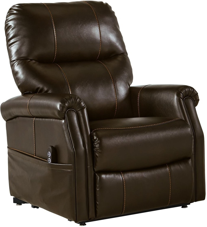 Shop Our Markridge Chocolate Faux Leather Power Lift Chair Recliner By Signature Design By Ashley