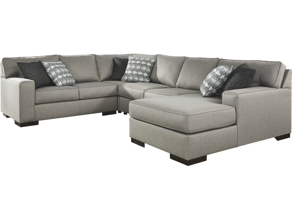 Benchcraft Living Room Marsing Nuvella 4 Piece Sleeper Sectional With Chaise 41902s6 Furniture