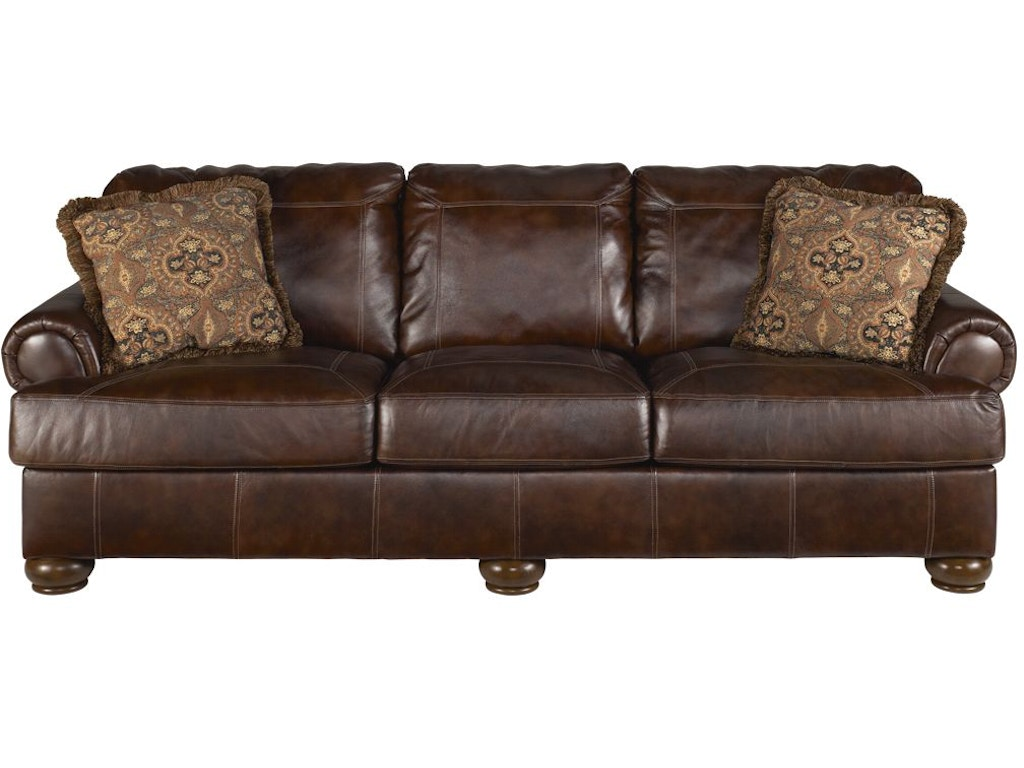 Signature Design By Ashley Axiom 2pc Leather Living Room