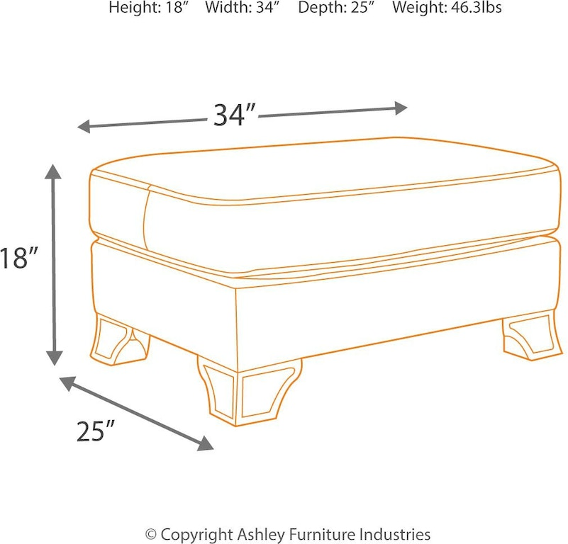 Ashley Furniture Victoria Texas: Signature Design By Ashley Living Room Lanett Ottoman