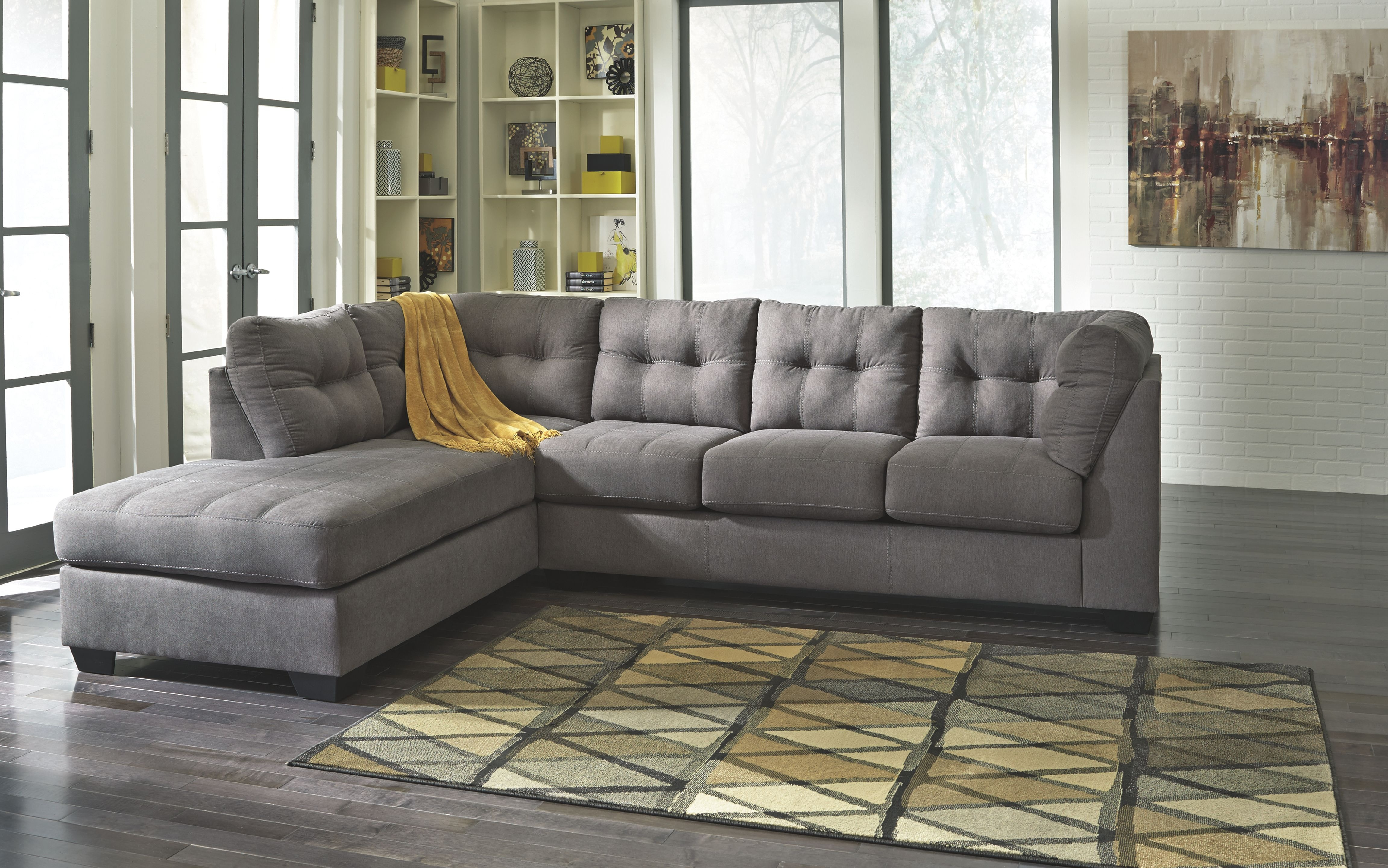Benchcraft Living Room 2 Pc Chaise Sectionalavailable In 4