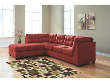 2 PC Chaise Sectional..Available in 3 Designer Colors 4520216-67