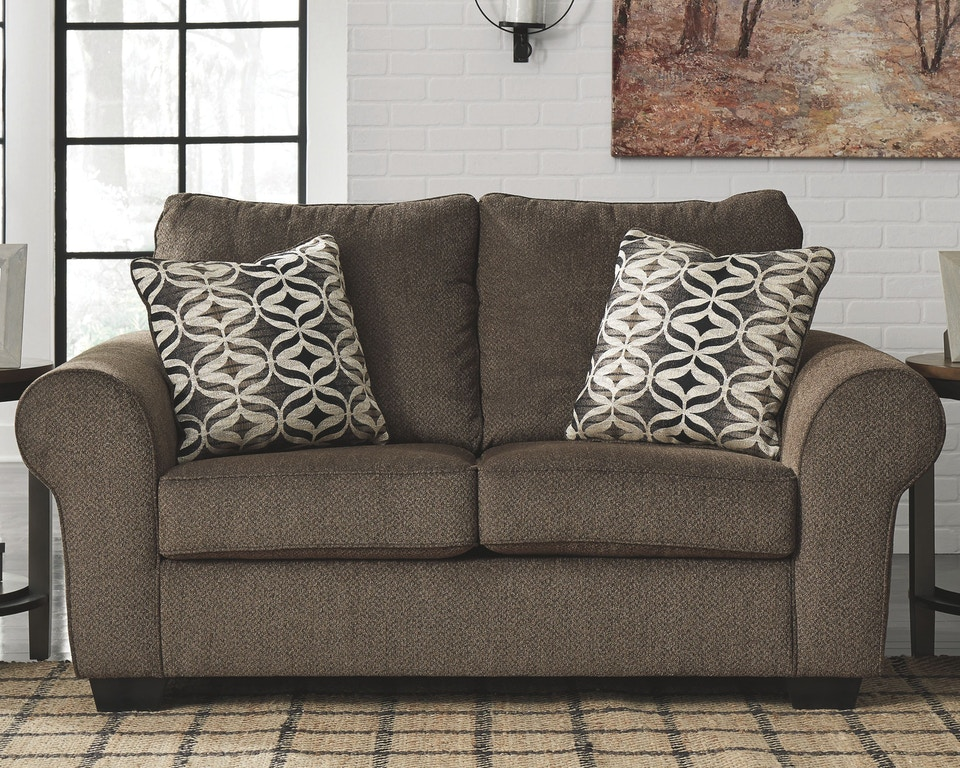 Surprising Benchcraft Living Room Nesso Loveseat 4910235 Fwdg Home Interior And Landscaping Mentranervesignezvosmurscom
