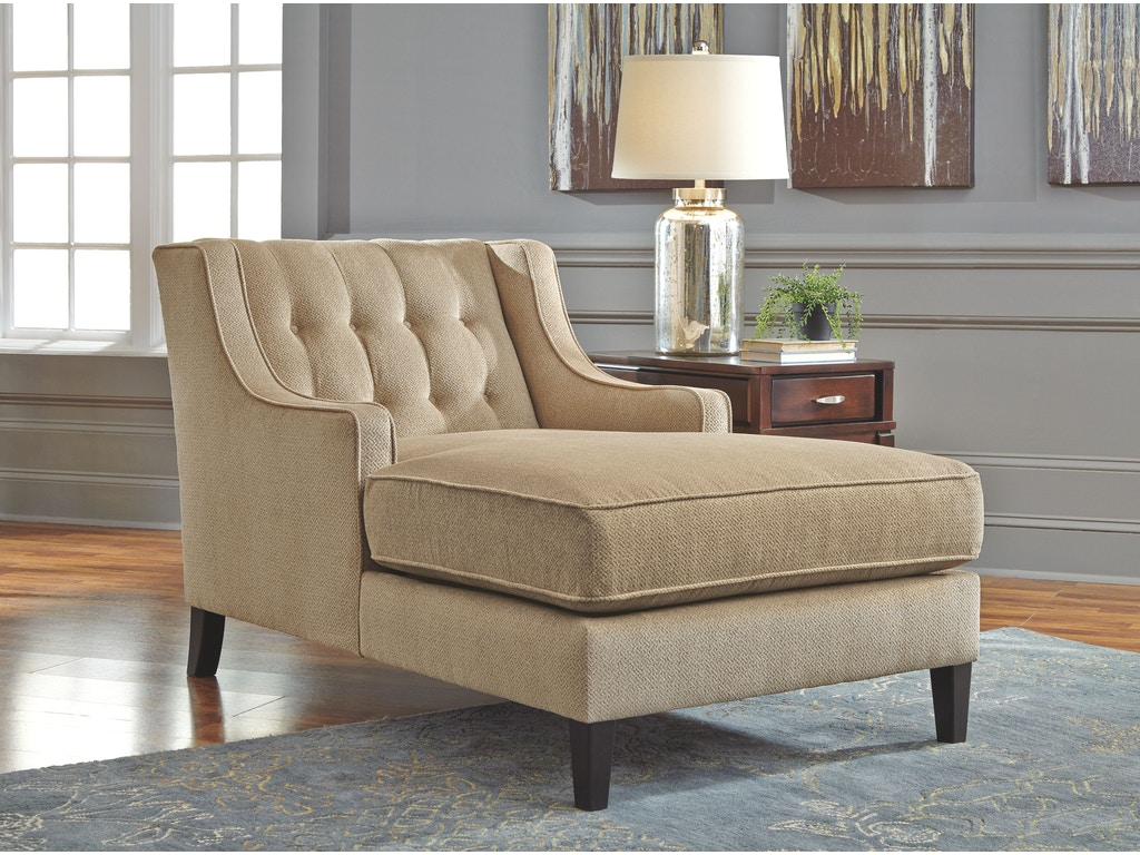 Signature design by ashley living room chaise 5810015 for Small armchairs for living room