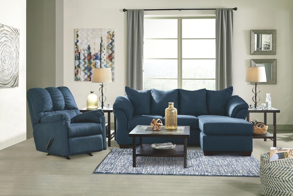 Sensational Signature Design By Ashley Living Room Darcy Sofa Chaise Dailytribune Chair Design For Home Dailytribuneorg