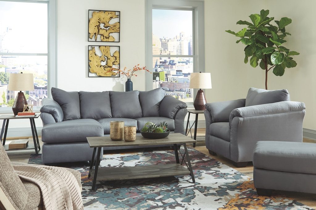 Swell Signature Design By Ashley Living Room Darcy Sofa Chaise Dailytribune Chair Design For Home Dailytribuneorg