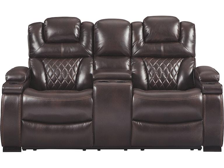 Terrific Warnerton Power Reclining Loveseat With Console Machost Co Dining Chair Design Ideas Machostcouk