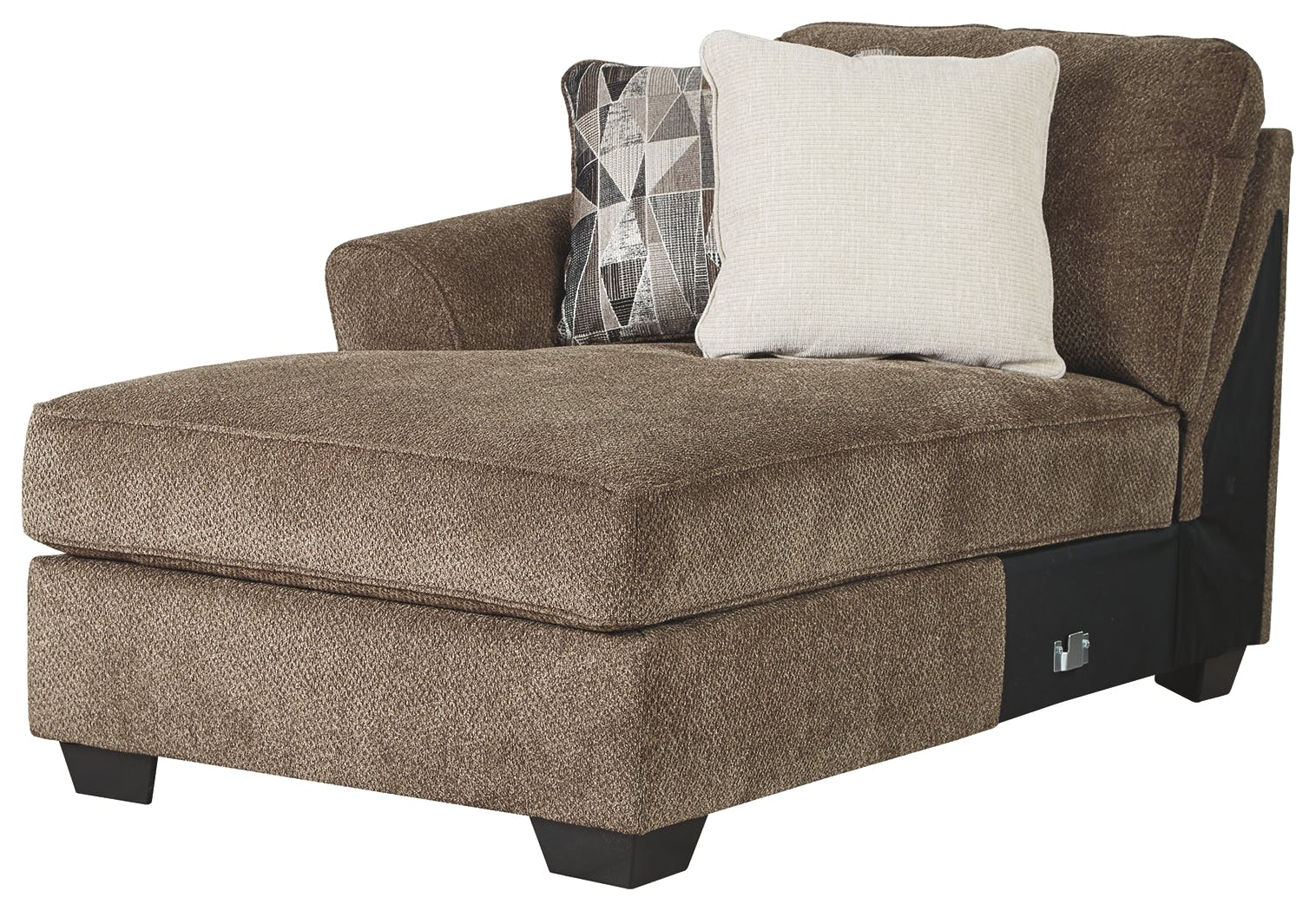 Shop Our Graftin Teak 3 Piece Sectional With Chaise By Benchcraft 91102s1 Joe Tahan S Furniture