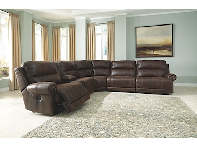 6 PC MODULAR SECTIONAL WITH DRINK CONSOLE (POWER AVAIL ADD $200) 9310157