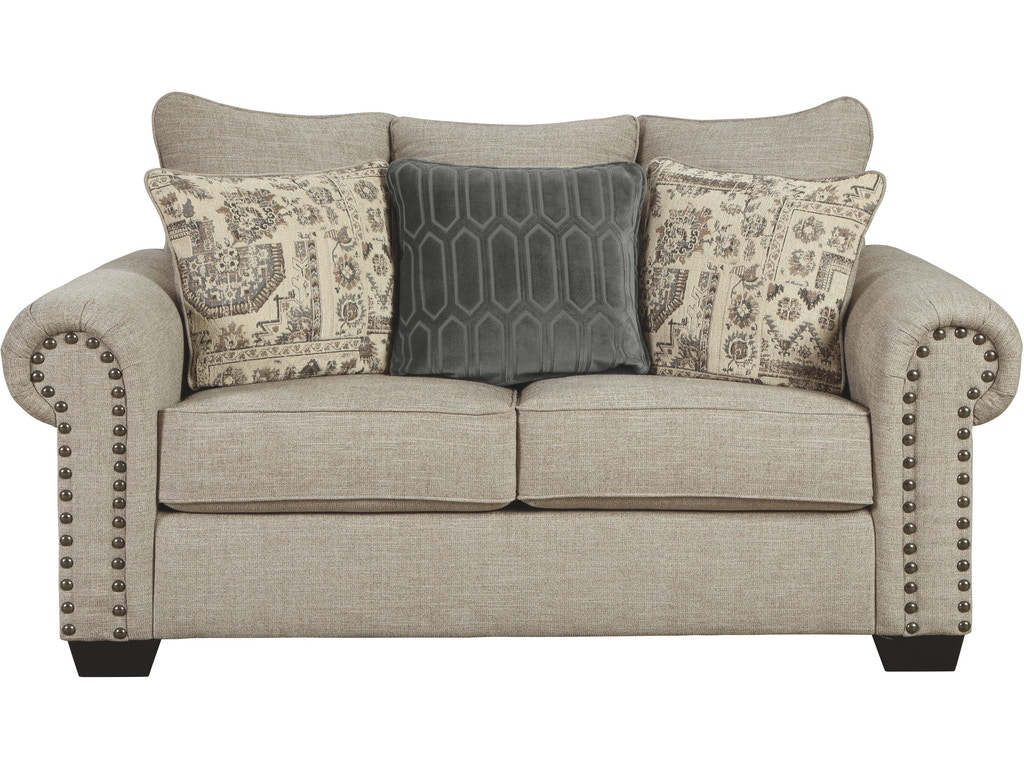 Signature Design By Ashley Living Room Zarina Loveseat 9770435 Furniture And Rug Depot