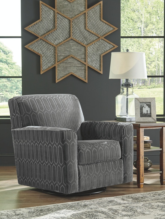 Astonishing Signature Design By Ashley Living Room Swivel Accent Chair Machost Co Dining Chair Design Ideas Machostcouk