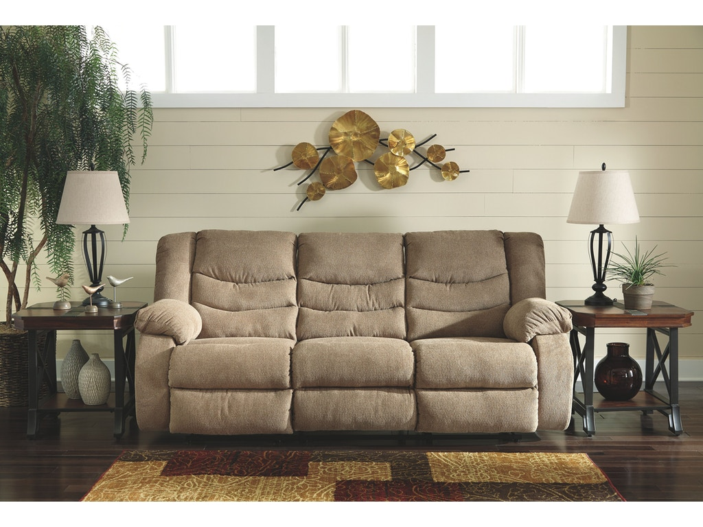 Signature design by ashley reclining sofa on sale at elgin furniture stores in euclid cleveland for Living room sectionals for sale