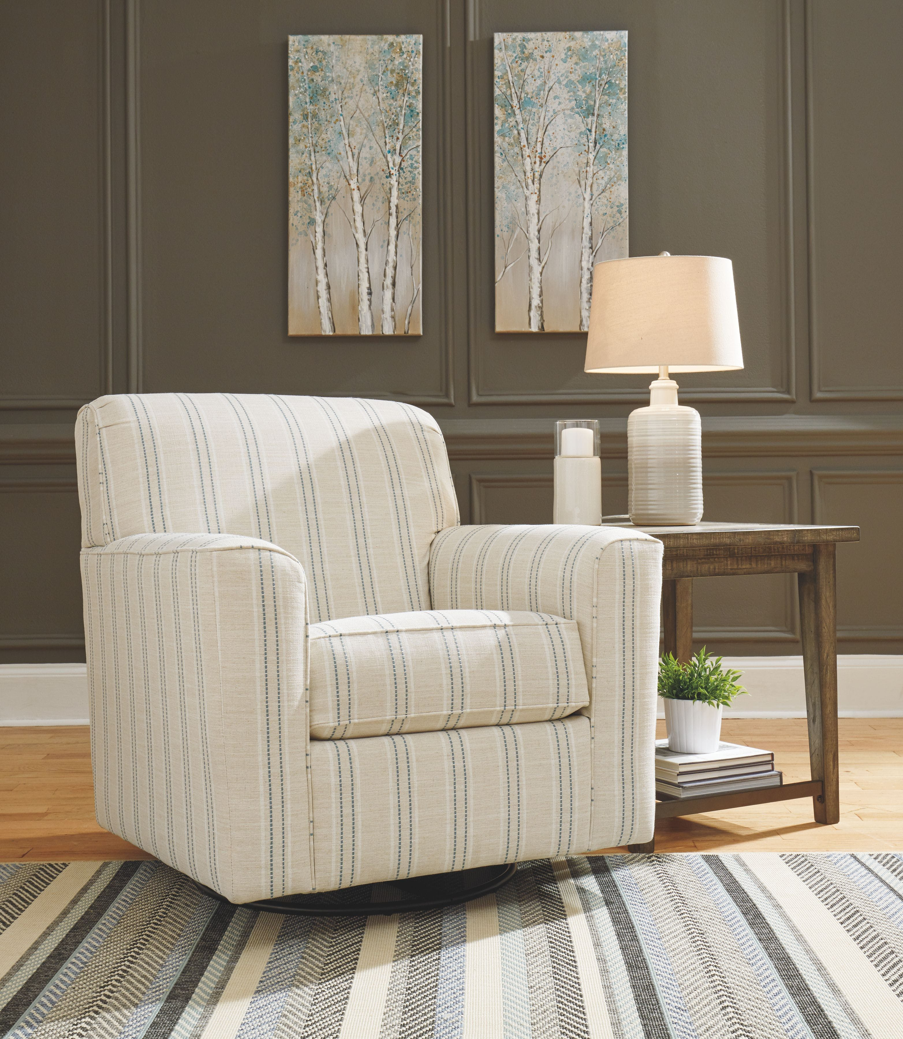 Signature Design By Ashley Living Room Swivel Glider Accent