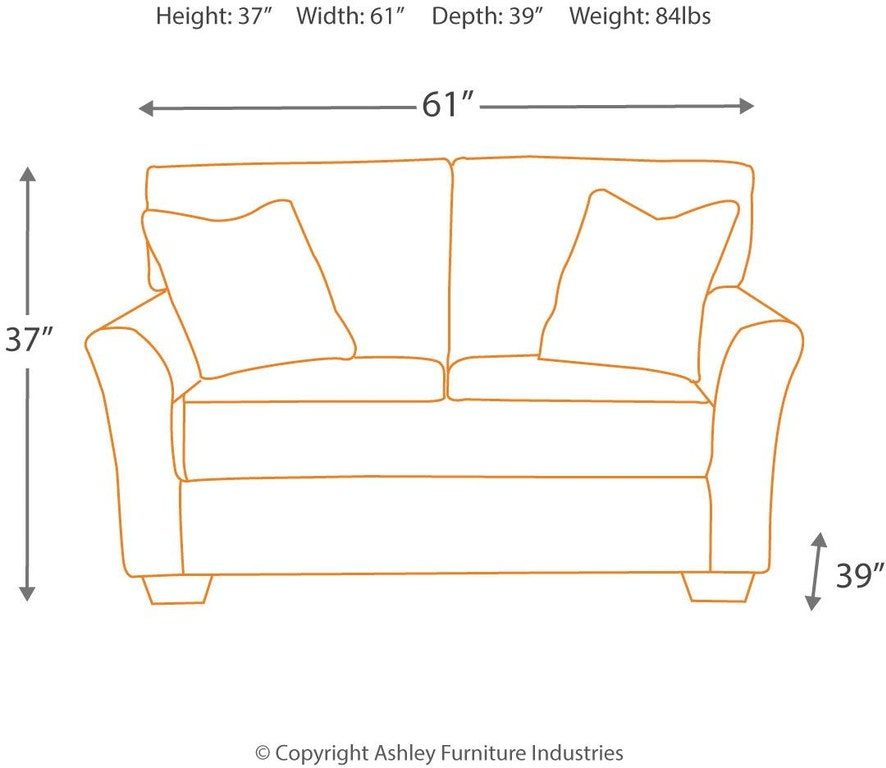 Excellent Signature Design By Ashley Living Room Tibbee Loveseat Bralicious Painted Fabric Chair Ideas Braliciousco