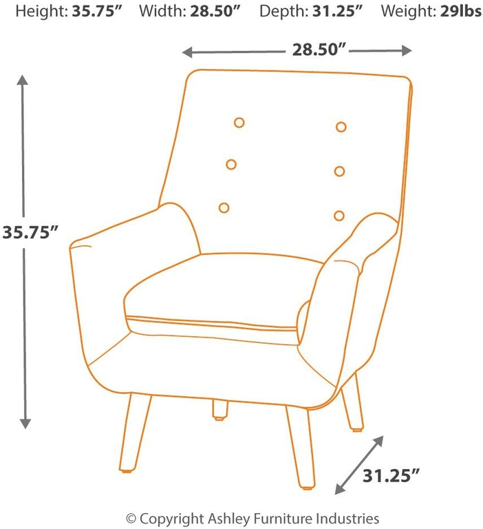 Zossen Mid Century Modern Accent Chair In Ivory Crushed: Signature Design By Ashley Living Room Zossen Accent Chair