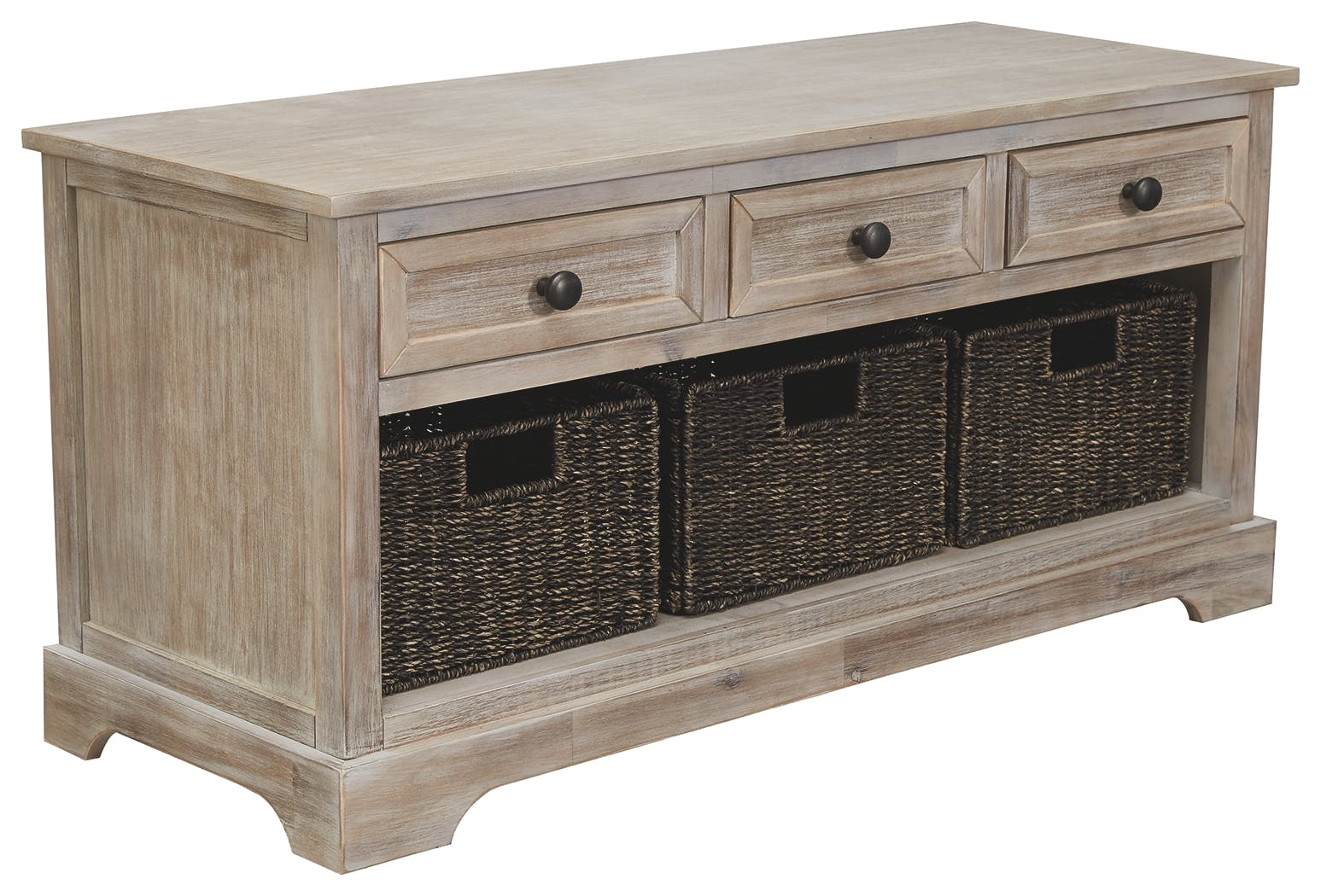 Signature Design By Ashley Living Room Oslember Storage Bench A3000198 Furniture Kingdom