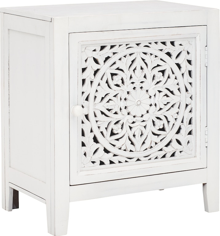 Signature Design By Ashley Living Room Fossil Ridge Accent Cabinet Skaff Furniture Carpet One