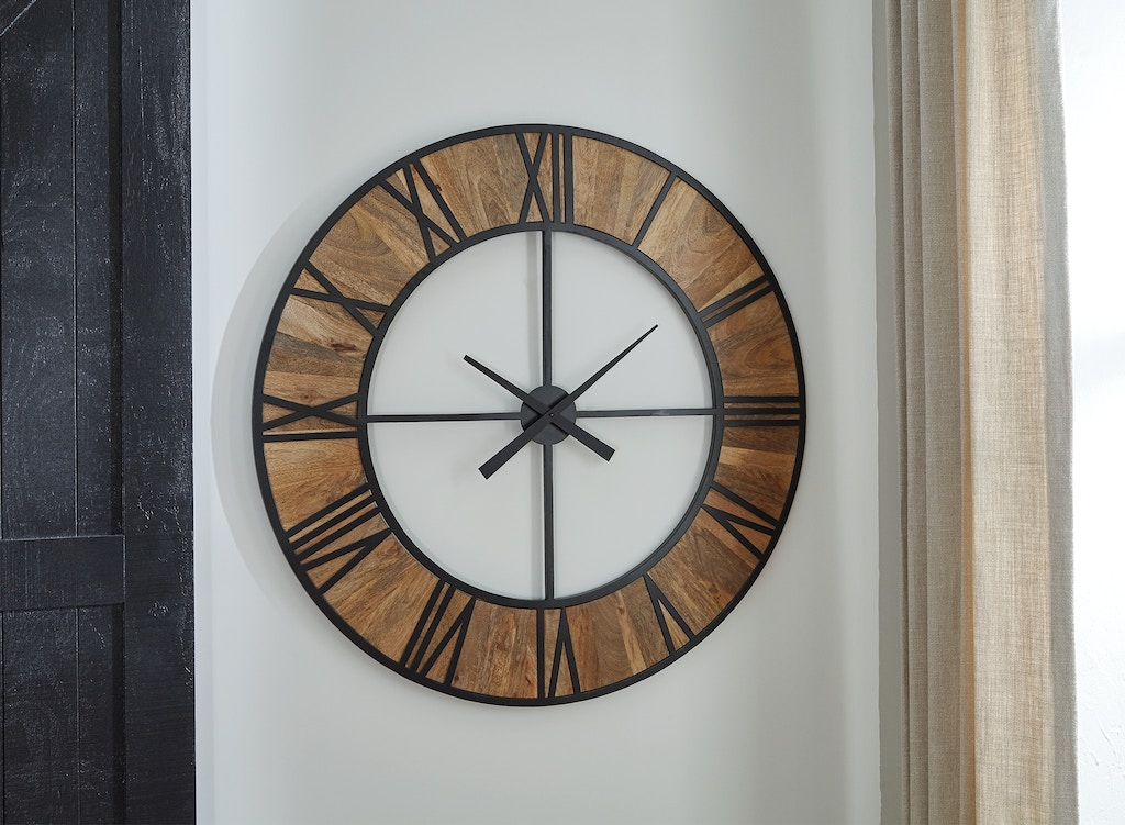 Signature Design By Ashley Accessories Byram Wall Clock A8010178 Markson S Furniture Rochester