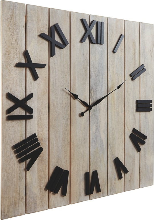 Signature Design By Ashley Accessories Bronson Wall Clock A8010179 Markson S Furniture