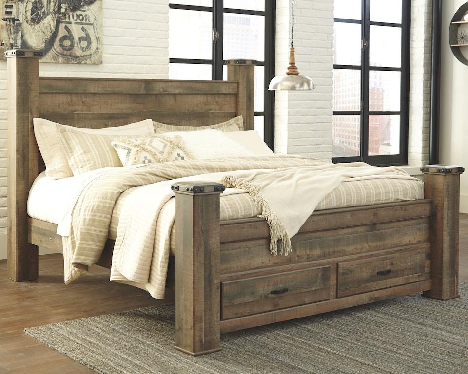 signature designashley bedroom trinell king poster bed