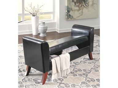 Signature Design by Ashley Upholstered Storage Bench B010-109