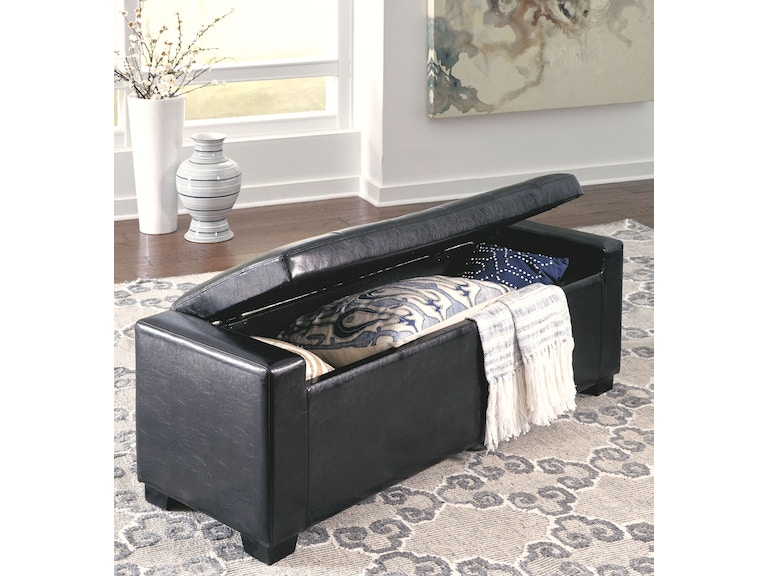 Upholstered Storage Entryway Bench: Signature Design By Ashley Bedroom Upholstered Storage