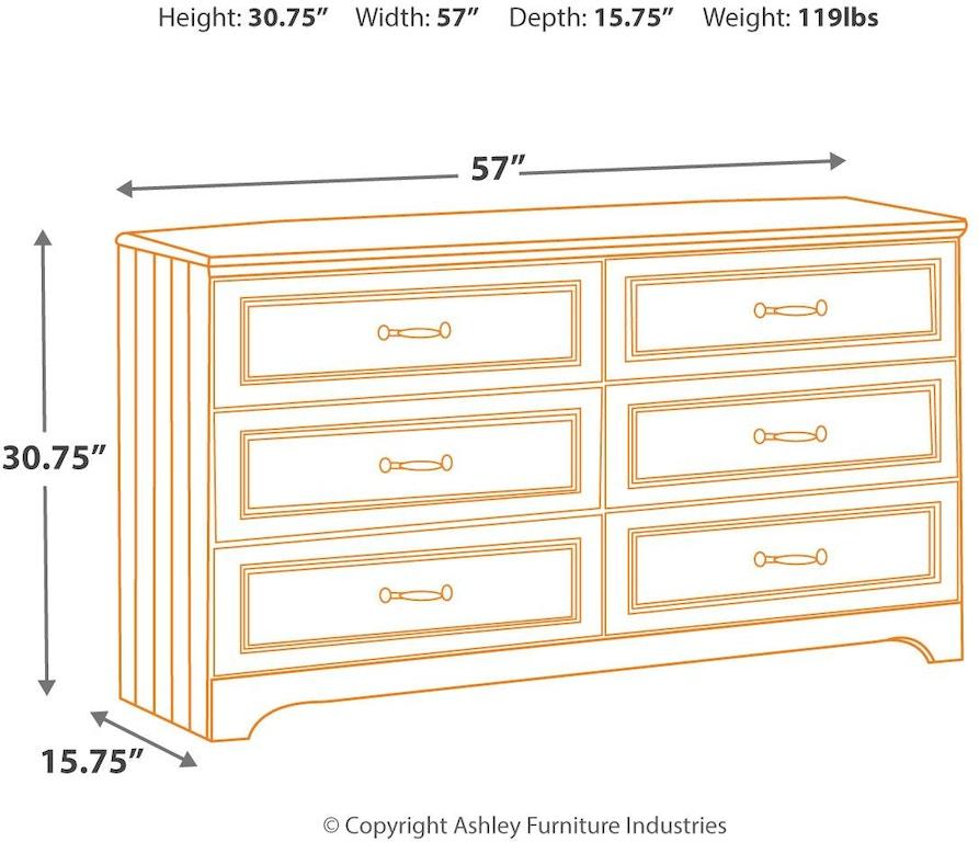 Ashley Furniture Delmar De: Signature Design By Ashley Bedroom Lulu Dresser B102-21