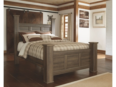 Queen Poster Bed (KING 549.95) B251-64