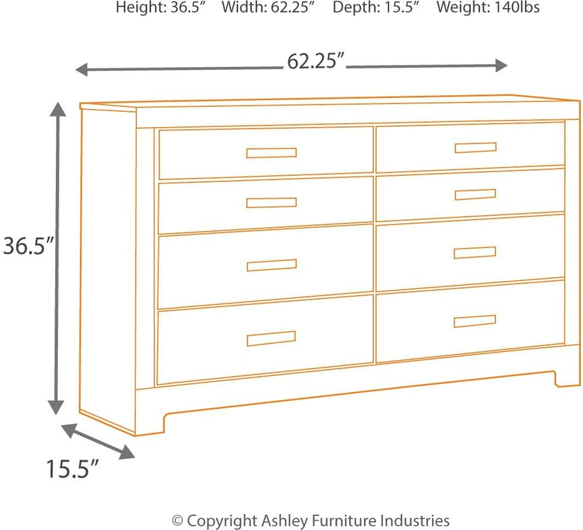 Signature Design By Ashley Bedroom Harlinton Dresser B325