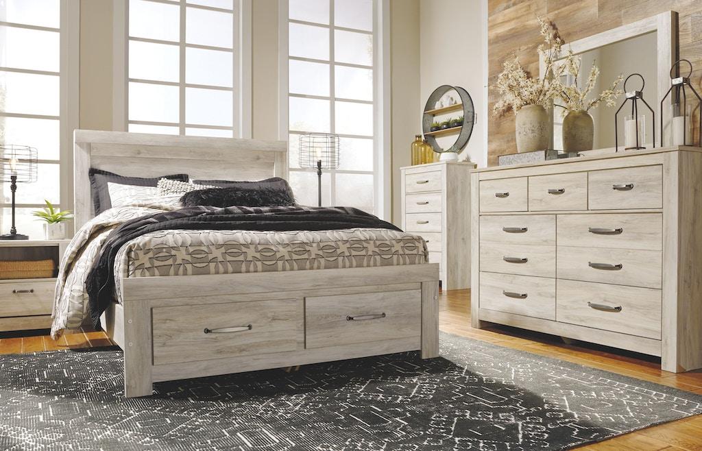ashley bedroom bellaby queen platform bed with 2 storage