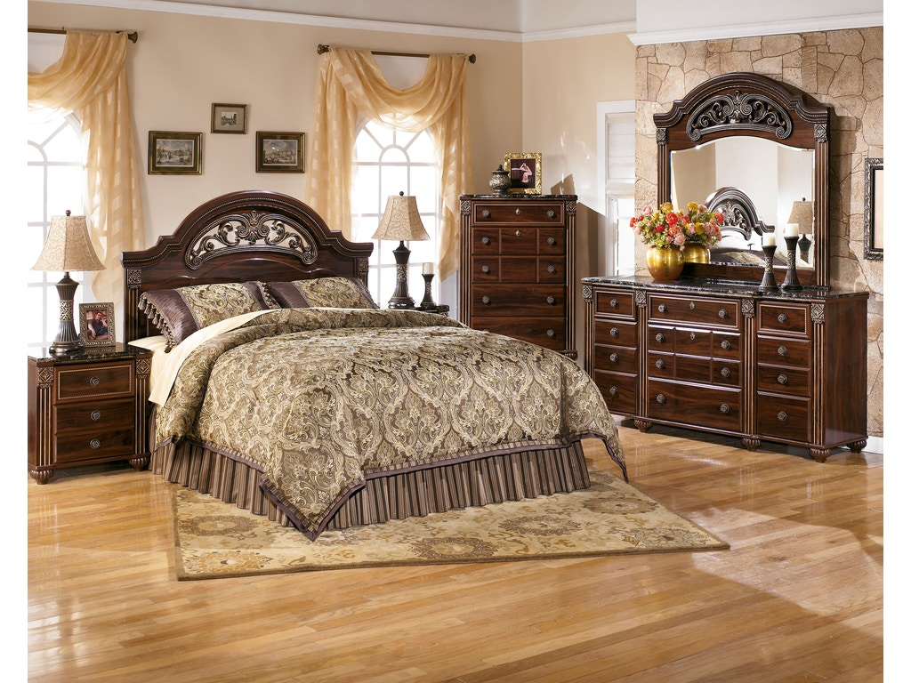 Signature design by ashley gabriela 5 pc king bedroom on for Ashley furniture 5 pc bedroom sets