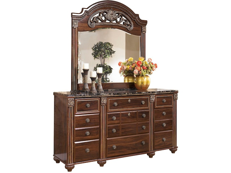 Signature Design by Ashley Bedroom Gabriela Dresser and Mirror ...