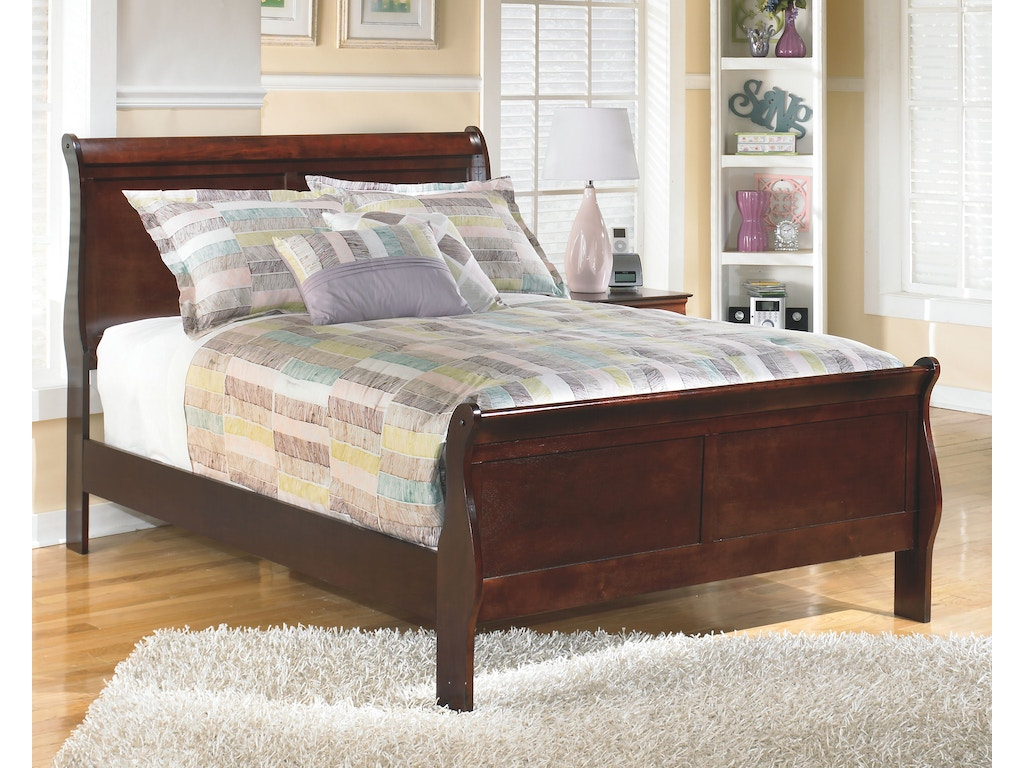 Signature design by ashley bedroom full sleigh rails b376 for Signature home designs