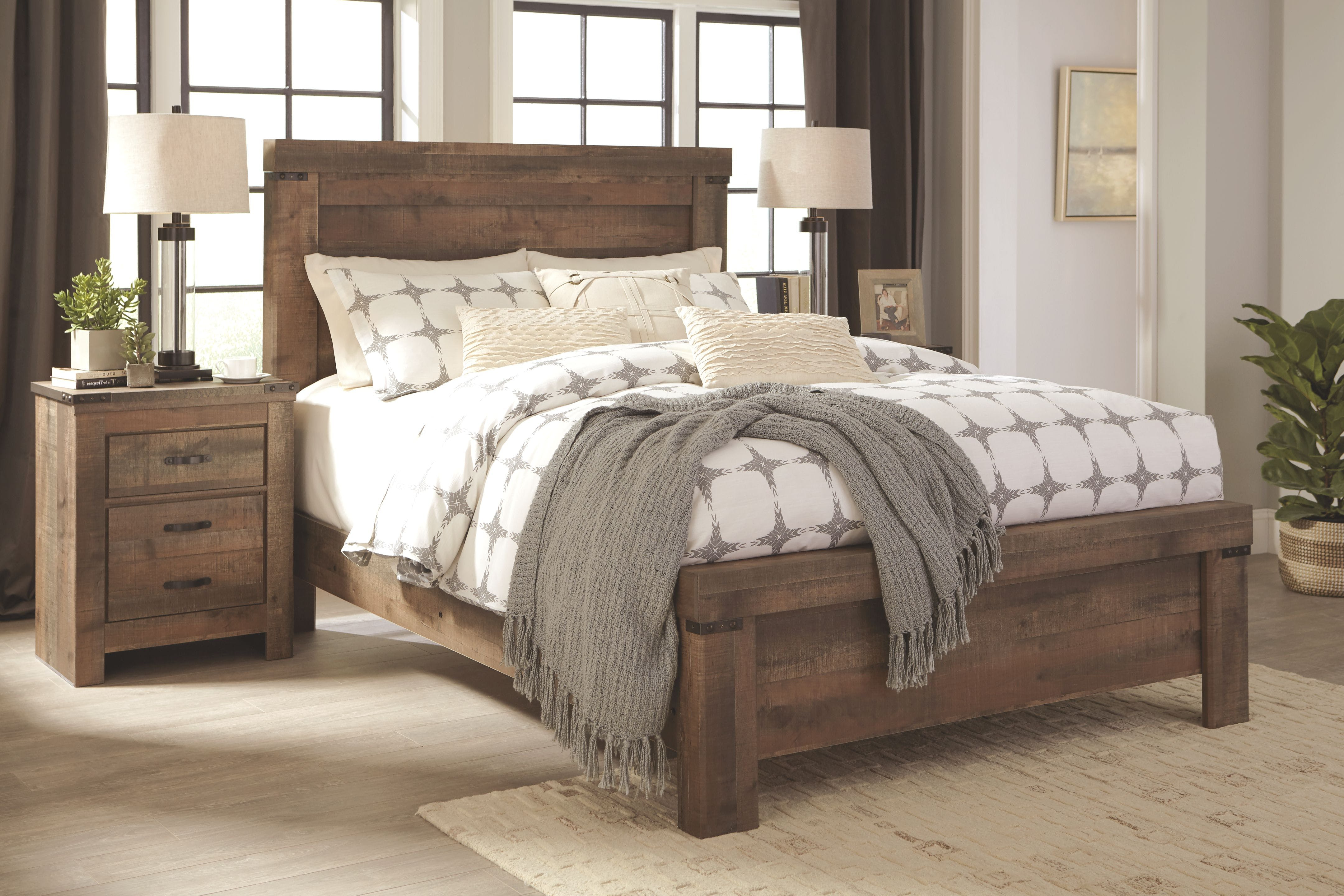 Signature Design By Ashley Bedroom Trinell Queen Panel Bed B446b48 Capital Discount Furniture