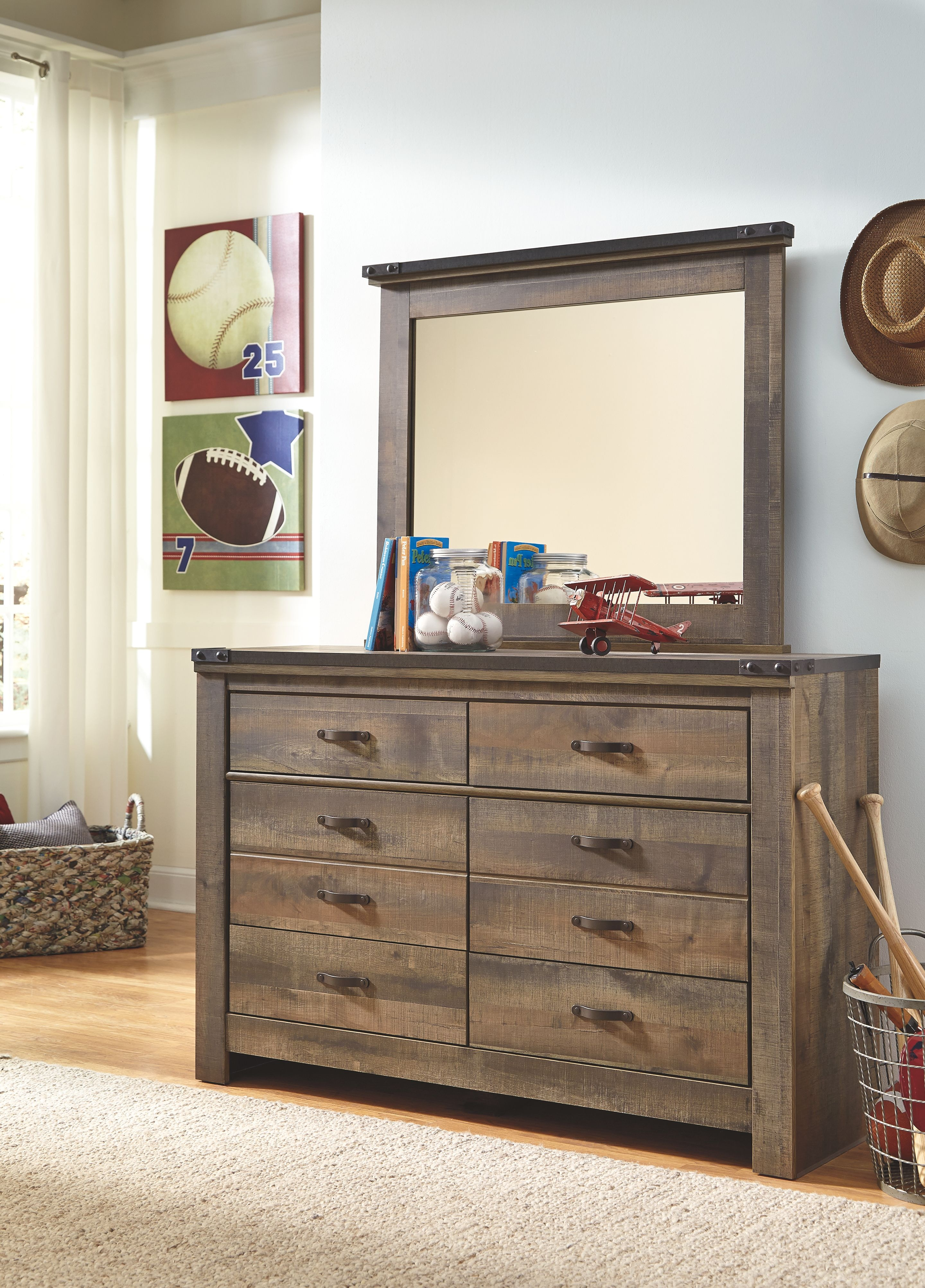 Signature Design By Ashley Bedroom Mirror On Sale At Elgin Furniture Stores  In Euclid, Cleveland Heights And North Randall