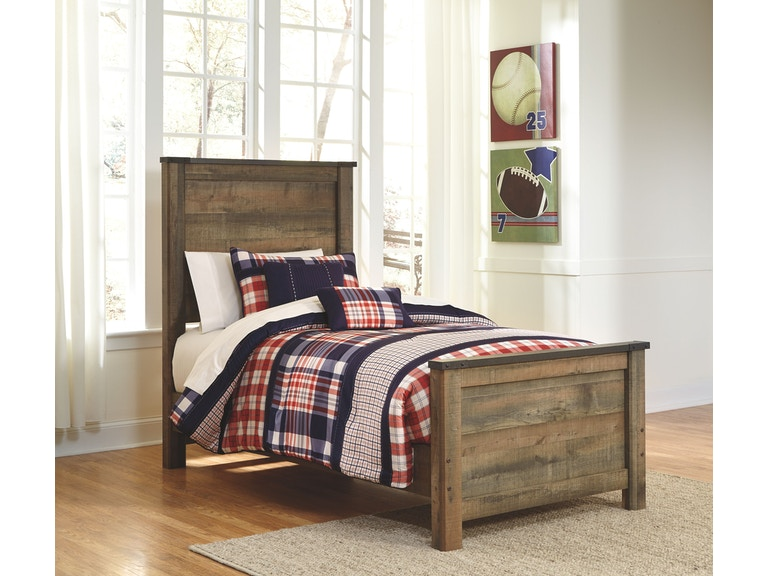 Signature design by ashley trinell twin bookcase headboard for Panel beds for sale