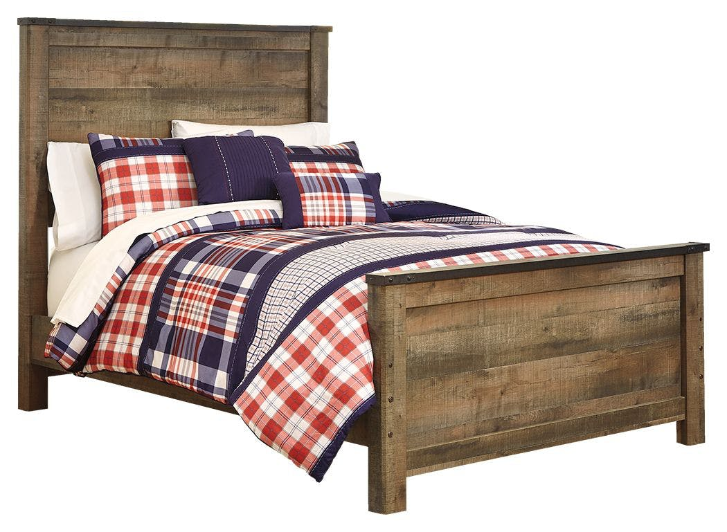 Signature Design By Ashley Bedroom Trinell Full Panel Bed With Mattress B446b52 Dow Furniture