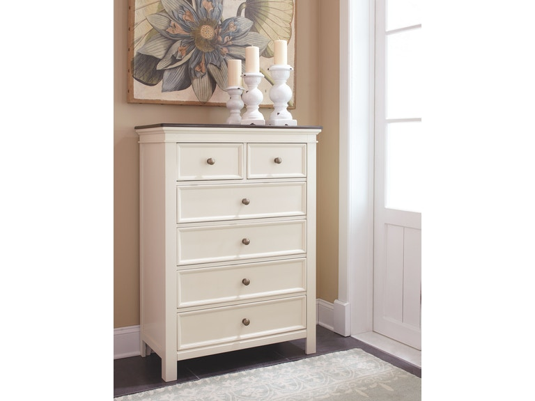 d541a3bd1953 Signature Design by Ashley Woodanville Six Drawer Chest on sale at Elgin  Furniture in Euclid