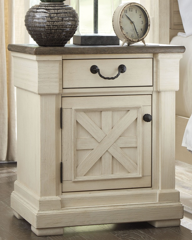 Bolanburg White Louvered Panel Bedroom Set From Ashley: Signature Design By Ashley Bedroom Bolanburg Nightstand