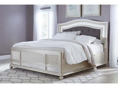 Signature Design by Ashley Coralayne Bed (King) Silver B650-KING BED