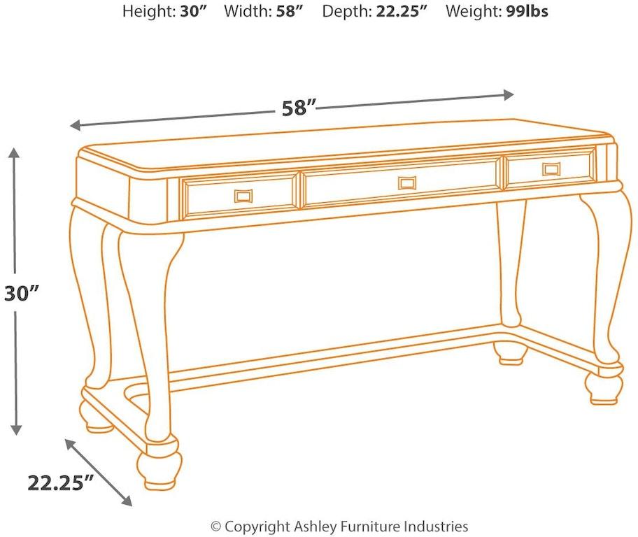 Signature Design By Ashley Bedroom Coralayne Vanity B650