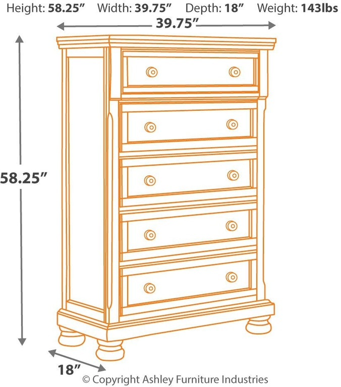 Millennium Bedroom Porter Chest Of Drawers B697 46 Sides