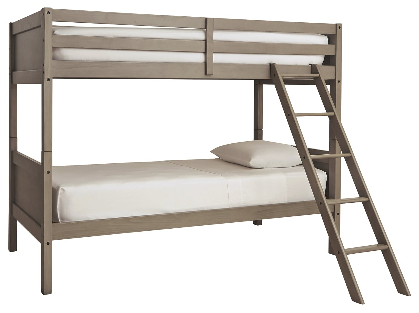 Picture of: Signature Design By Ashley Youth Lettner Twin Twin Bunk Bed With Ladder B733 59 Markson S