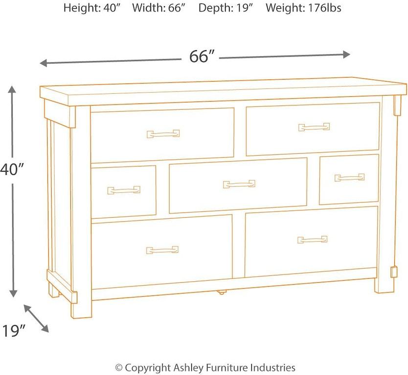 Signature Design By Ashley Bedroom Brashland Dresser B740